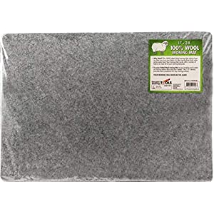 Embroidery Iron Pad 18 x 24 x 0.6 Wool Ironing Quilters Pressing Pad Mat- 100/% Wool for Professional Ironing| Portable Quilting Heat Press Pad for Traveling Sewing Camping College| Top Craft