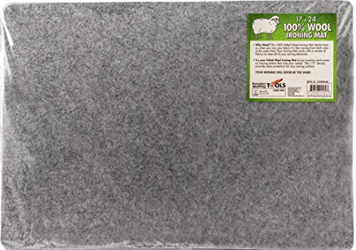 """17"""" x 24"""" Wool Ironing Mat - 100% New Zealand Wool Pressing Pad, Perfect Ironing Station for Quilting!"""