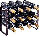 Scaffale impilabile a 3 ripiani, per vino, per cucina, bar, dispensa, cantina, cantina, piano di lavoro,...