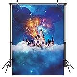 LYWYGG 5x7FT Cumpleaños Fotografía Telón de Fondo Princesa Dream Pink Castle Fiesta de Cumpleaños Cumpleaños Vinilo Foto Estudio Booth Props CP-157