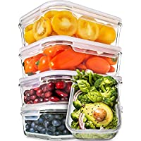 5-Pack Prep Naturals Glass Meal Prep Containers 30 Ounce