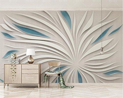 XINSHENGKEJI Fototapete,Tapete,Tapeten Wohnzimmer Wandtapete 3D abstrakte Blütenblatt Blumen Seidentuch nach Maß Fototapete 3D Tapete 250x175cm