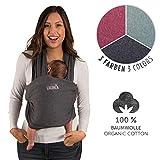 Fular Portabebes de Algodón Ecológico para Recién Nacidos hasta bebés de...
