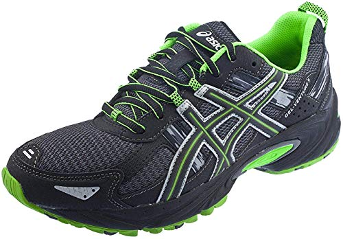 ASICS Men's Gel Venture 5 Trail Running Shoe, (11.5 D(M) US, Castle Rock/Black/Green)