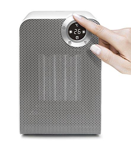 ecHome PTC Ceramic Heater 1800W Electric Oscillating Fan IP21 LED Sil