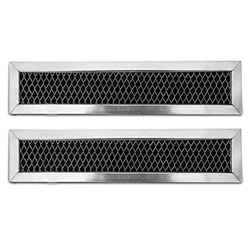 GE WB02X11550, JX81L, Frigidaire 5304464577 Microwave Recirculating Charcoal Filter Compatible with GE, Hotpoint (2-Pack)