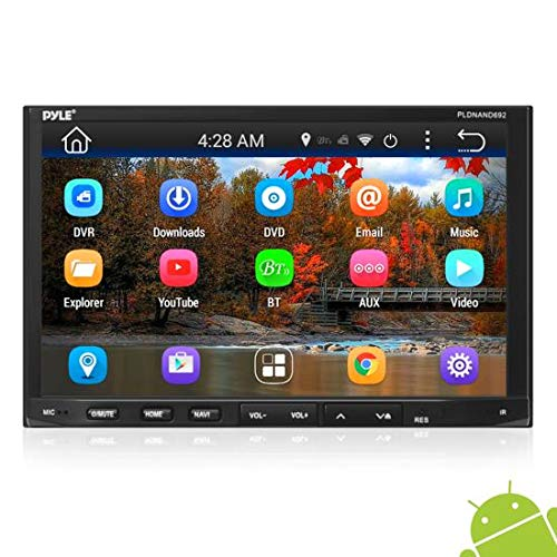 "Pyle Double DIN Android - Touchscreen in-Dash DVD/CD Player with GPS Navigation, 7"" Monitor Head Unit Receiver, Wireless Bluetooth, USB/Micro SD Card Slot, Am FM Radio and RCA to Aux Input"