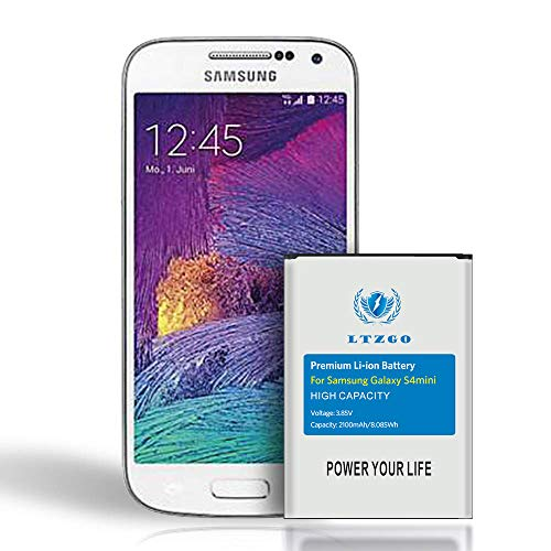 Ersatz Akku für Samsung Galaxy S4 Mini Verbesserter hoher Kapazität 2100mAh Ersatz Batterie Interner Akku-Ohne NFC,2020 Baujahr