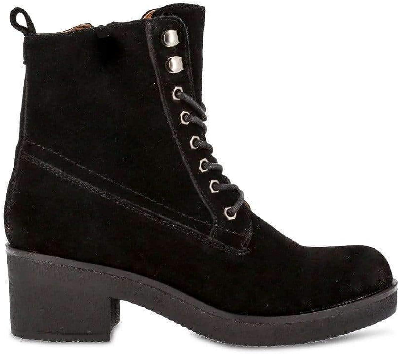 Docksteps Clara-Mid Women Black Ankle Boots