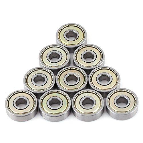 Azokon Kugellager, Precision Bearings10 Stück Metall geschirmt Durable Multi-Use Kohlenstoffstahl Miniatur 626ZZ Kugellager (6x19x6mm) Vorgeschmierte Stahl Miniatur Rillenkugellager