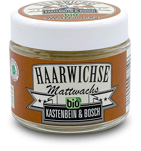 Haarwichse Mattwachs - Das Bio Haarwachs für langen & unsichtbaren Halt in deinem Haar - Professionelles Haarstyling von den Friseurmeistern Kastenbein & Bosch (100ml)