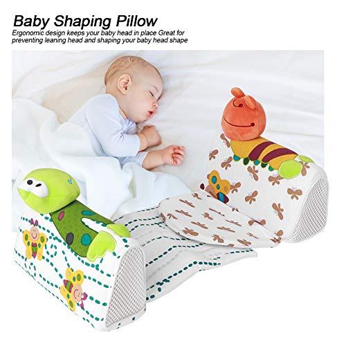 Almohada para bebé 100% algodón y Tela de Terciopelo para Dormir para bebés recién Nacidos
