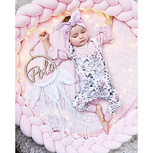 Bettschlange Nestchenschlange für Baby Bettrolle Bettumrandung Babybettschlange Babybett Baby Nestchen Bettumrandung Weben Geflochtene Stoßfänger Dekoration für Krippe (Mehrfarbig, 3 M),C,3m/118in