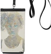 Blue Eye Girl XJJ Pochette à suspendre pour téléphone portable Noir