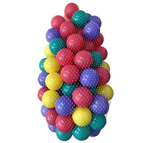 Tiktaktoo 100 Colores Bolas para Baño de Bolas 7cm Babybaelle Bolas Plásticas Bebé Bolas de Juego