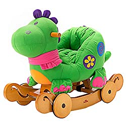 5. Labebe Plush Dinosaur Ride On Toy Rocker