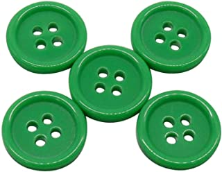 NEW LOT OF 50 RED /& GREEN COLOR 3//4 INCH 2 HOLE BUTTONS
