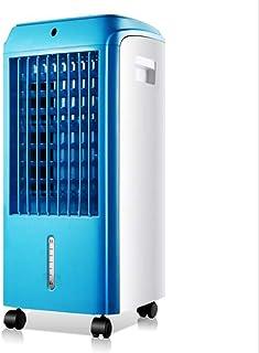 WENYAO Ventilador de enfriamiento móvil Enfriador de Aire Acondicionado pequeño Refrigerador doméstico Temporización 7H Tanque de Agua 4L (26 * 58cm), Azul, maquinaria