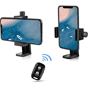UBeesize Cell Phone Tripod Mount with Wireless Remote, Selfie Stick Monopod Head and Tripod Adapter Stand Holder Compatible with Phone Android and All Phones