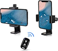 UBeesize Cell Phone Tripod Mount with Wireless Remote, Selfie Stick Monopod Head and Tripod Adapter Stand Holder Compatible with iPhone Android and All Phones