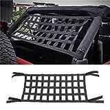 Cargo Techo Superior Suave Cubierta Resto Cama Hamaca para Jeep Wrangler JK 07-18, Resistente Techo Almacenamiento Rollo Jaula Barra Restricción - Negro