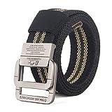 longhua Cinturón Lienzo cinturón Unisex cinturón aleación Doble Anillo Hebilla Denim Vacaciones Regalo birt