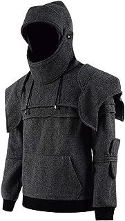 Men's Arthur Knight Hoodie Medieval Armor Sweatshirt Long Sleeve Jacket Coat Great Shape Heavy