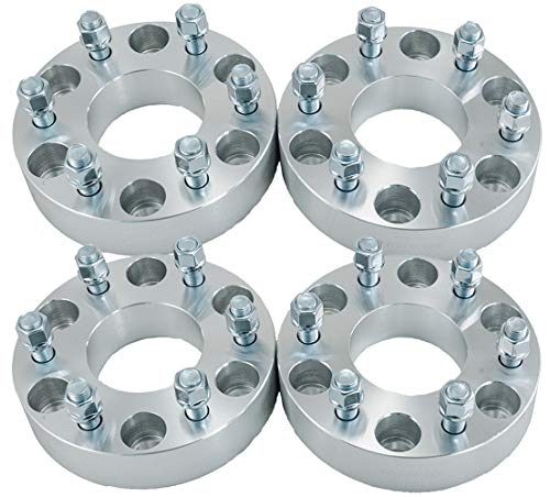 "Hex Autoparts 4pcs 1.5"" 6x5.5 to 6x135mm Wheel Spacers Adapters 78mm Compatible with Chevy GMC Ford 6 Lug"