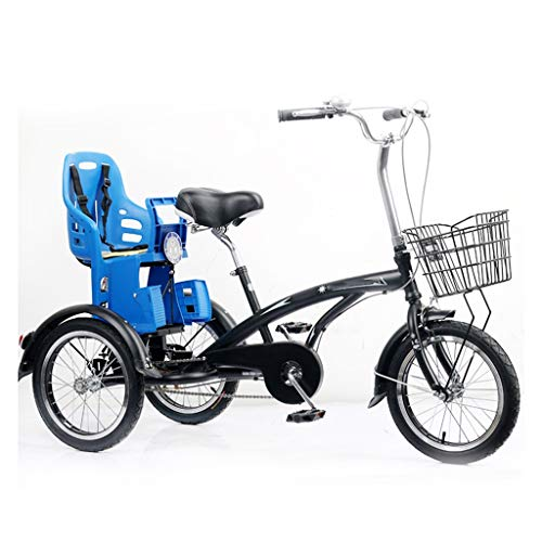 Triciclo For Adulti Con Cestino, 3 Biciclette Ruota 16 Pollici Anziani Adulti Cruiser Bike, A Tre Ruote Biciclette For Le Donne Gli Uomini Principianti, Resistente All'usura Sella, Freno Posteriore