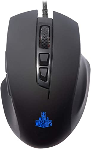 Ant Esports GM200W Gaming Mouse Wired, 6 Programmable Buttons, 3200 DPI Adjustable, with 7 Breathing Lights, Comforta...