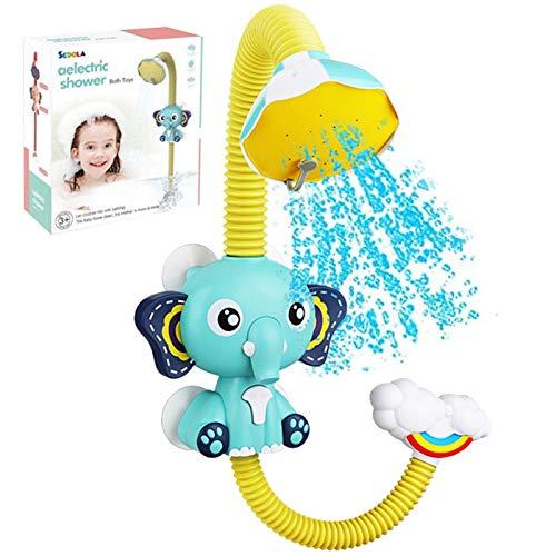 bulrusely Baby Badespielzeug, Kinder Baby Spielt Im Badezimmer Bad Sommerspielzeug, Elefant Wasserpumpe Bad Duschkopf Ausgießer Wasserspielzeug Mit Saugnapf Für Ab 1 2 3 Jahren Kinder