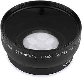 Tosuny Universal Lente Macro de Gran Angular 0.45X 52 mm Adecuada para Cámaras Canon/para Nikon/para Sony/para Pansonic/para Olympus