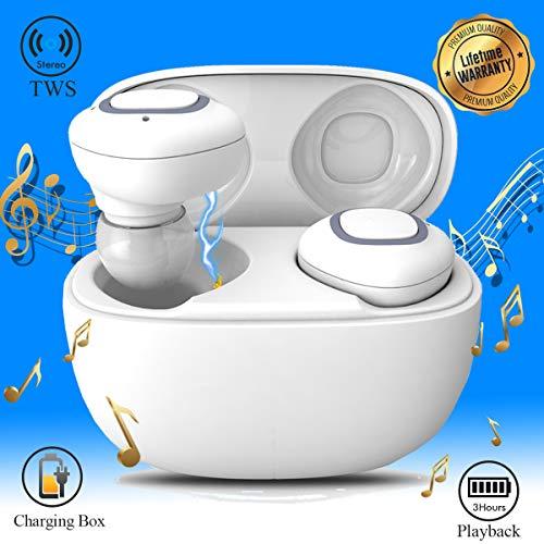 iFuntec Cuffie Bluetooth Senza Fili, Auricolari Bluetooth, Veri Stereo Mini in-Ear Wireless Auricolari con Microfono con Scatola di Ricarica per Huawei Mate 10 PRO Samsung Andriod Smartphones