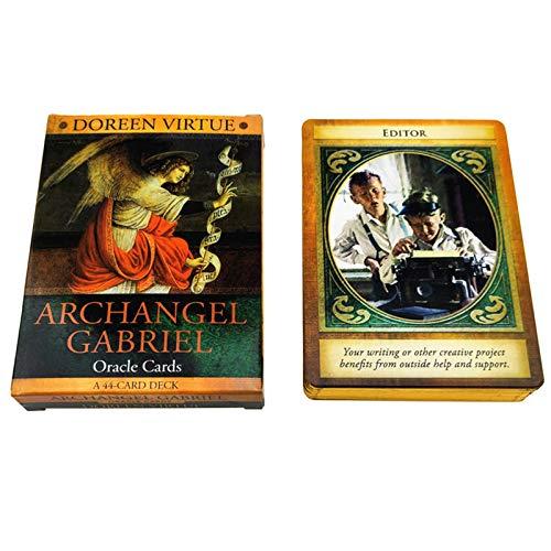 S-TROUBLE Arcángel Gabriel Oracle Cards Full English 44 Cards Deck Tarots Adivinación Fate Family Party Juego de Mesa