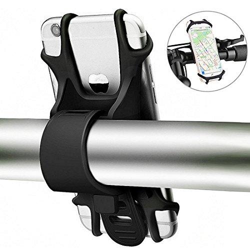Fahrrad Handyhalterung, Handy Halter für Fahrrad Motorrad Universal Silikon Bike Lenker Halterung für iPhone x 8 7 6 6 s Plus, Samsung, HTC, LG und alle 4-6 Zoll Smartphones