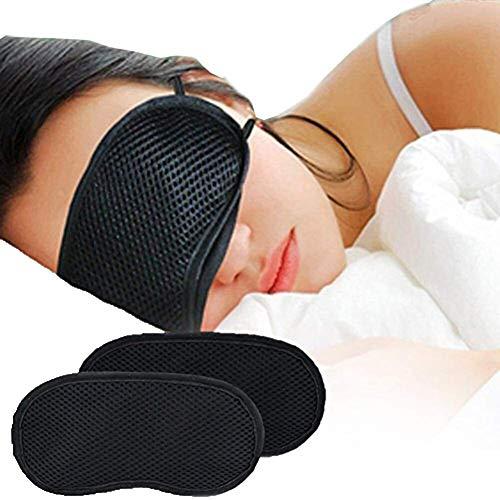 hhkty Bamboo Charcoal 3D Sleeping Eye Mask Light Blockout Eye Shade...