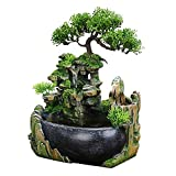 Jeffergarden Office Decoration Interior Fountain Table Waterfall Water Feature Indoor and Outdoor Use
