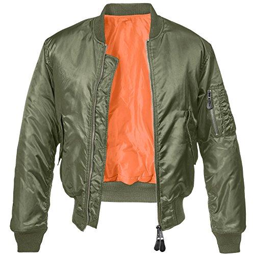 Brandit MA1 Jacke Oliv/Orange S