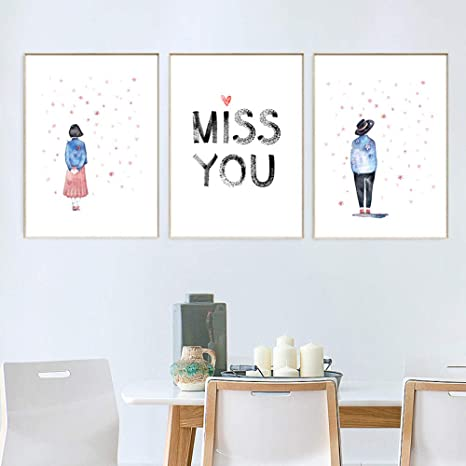 Zxkx Nordicnursery Hd Baby Room Cartoon Boy Girl Wall Art Canvas Picture Children S Bedroom 45 X 60 Cm No Frame Set Of 3 Amazon De Kuche Haushalt