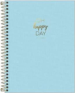 Caderno Capa Plástica, Tilibra, Happy, 307033, 160 Folhas, 10 Matérias, Azul