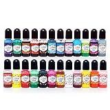 Pintura de resina epoxi, resina epoxi, 24 colores, pigmento epoxi, resina UV, colorante líquido, relleno de purpurina, manualidades y fabricación de joyas
