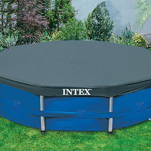 Intex 28031 Bâche de protection pour tubulaire ronde 3m66, Bleu, 366x366x25 cm