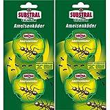 Celaflor Ameisen-Köder - mit schneller und zuverlässiger Nestwirkung - 2x 2 Dosen - Mit Gratis Gardopia Zeckenzange