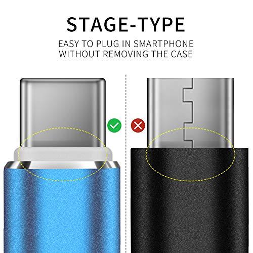 DUX DUCIS Kabel [2 Stück 1M] für Huawei P30 / Huawei P30 Pro/Huawei P30 Lite, Durable Nylon Supercharge USB C Ladekabel für All Huawei Type C Device - 3