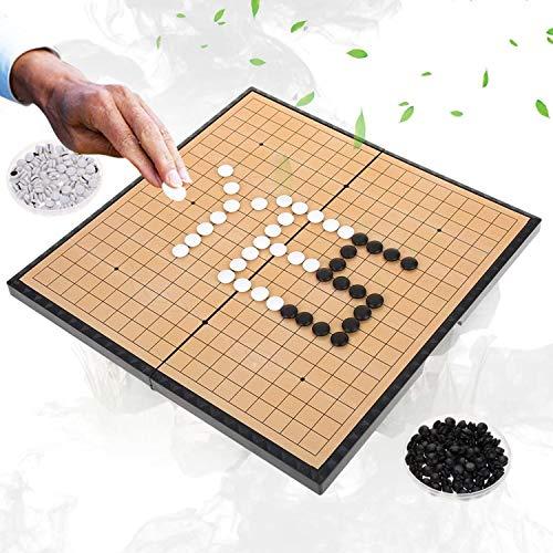 Go juego set, plegable tablero de ajedrez magnético, Ir juego educativo, Ir juego de los niños juego de viaje conjunto juego de tablero