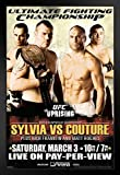 Pyramid America Official UFC 68 Tim Sylvia vs Randy Couture Sports Black Wood Framed Art Poster 14x20