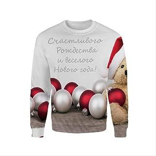 AHJSN Men Women S-4xl Santa Claus Christmas Novelty Ugly Christmas Sweater Snowman 3d Printing Hooded Sweater 4XL 5
