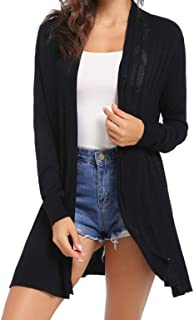 Womens Cardigans Casual Knitted Cardigan Long Sleeve Jumper Mesh Sweater