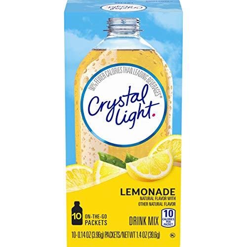 Crystal Light Sugar Free Raspberry Lemonade Powdered Drink Mix, 10 ct - 0.8 oz Packets