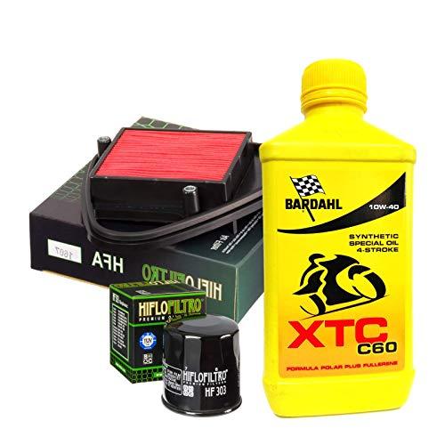 Kit de revisión Bardahl XTC C60 10W40 filtro aceite aire VT C Shadow 600